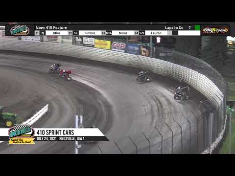 Knoxville Raceway 410 Highlights - June 24, 2021 - dirt track racing video image
