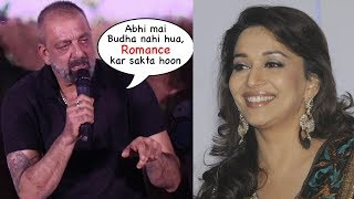 Sanjay Dutt's Reaction on Working With Ex Gf Madhuri Dixit in Marathi Film Industry