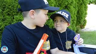Sketchy Trespasser vs Police Kids! Candy Intruder Showdown pretend play kids funny video