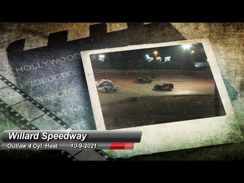 Willard Speedway - ALL 4 Cylinder Heats - 10/9/2021 - dirt track racing video image