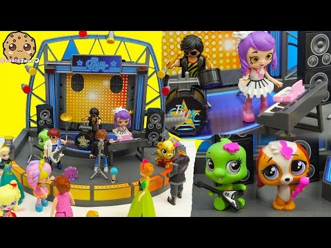 Shopkins Happy Places Shoppies Dolls Go To Playmobil Concert - Band Stage Playset - UCelMeixAOTs2OQAAi9wU8-g
