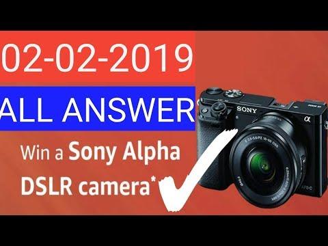 Today Amazon quiz answer win a DSLR camera