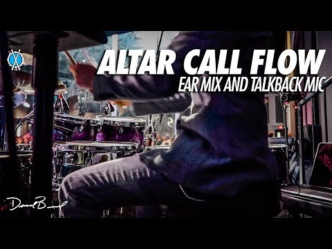 Altar Call Flow on Drums // (Ear Mix and Talkback Mic)