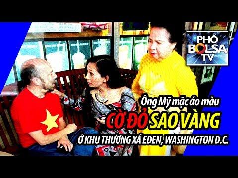 TỪ THỦ ĐÔ: Ông Mỹ mặc áo cờ đỏ sao vàng vào khu Việt ở Washington DC