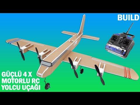 Maket Kartonundan 4 Motorlu Uzaktan Kumandalı Uçak Yapımı