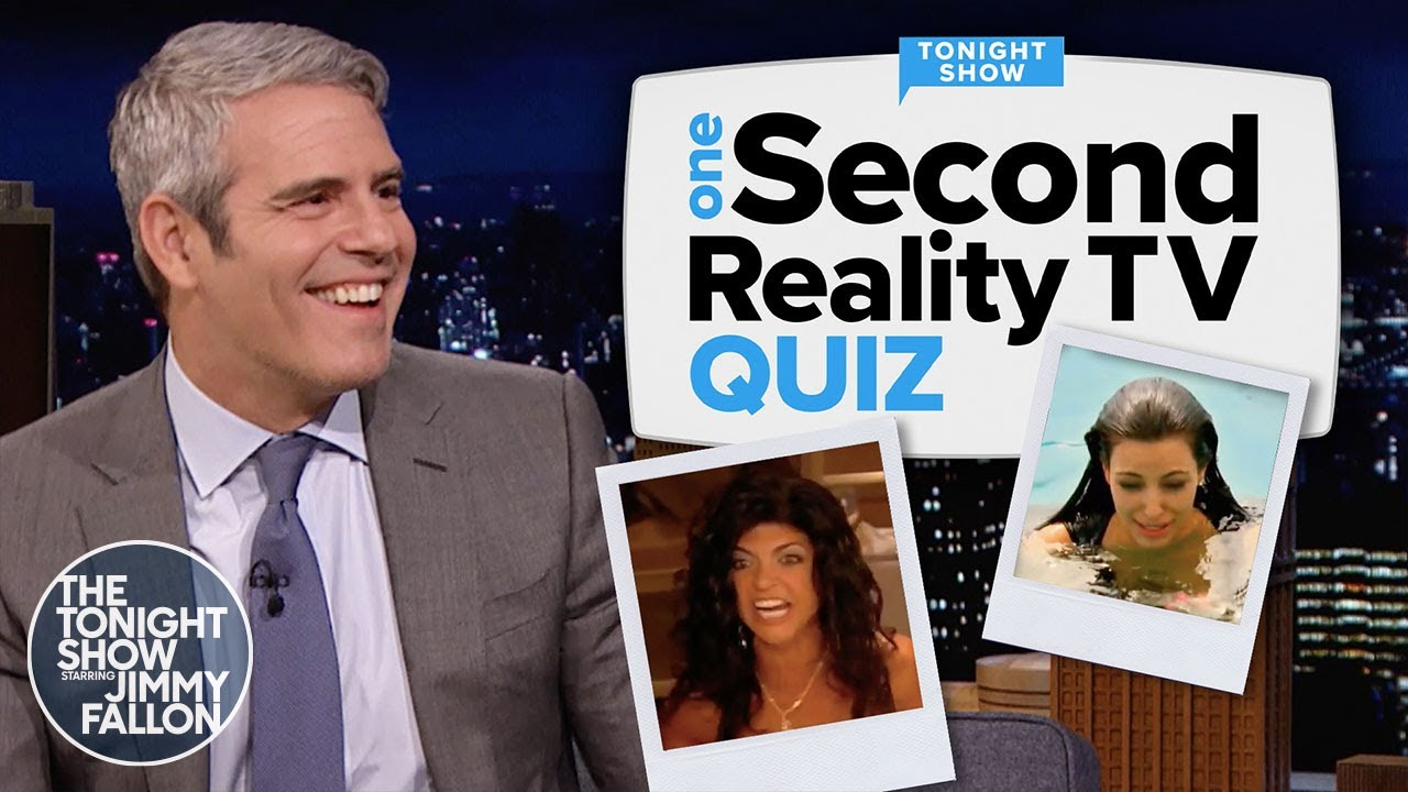 One-Second Reality TV Quiz with Andy Cohen | The Tonight Show Starring Jimmy Fallon