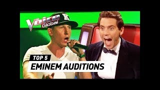 BEST EMINEM's Lose Yourself Blind Auditions in The Voice