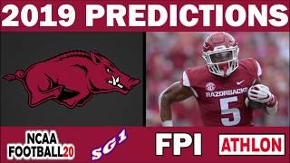 Arkansas Razorbacks 2019 Football Predictions - Comparing Sources