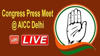 LIVE  : AICC Press Briefing by Randeep Singh Sujerwala At Congress HQ | Delhi | Sonia | YOYO TIMES |