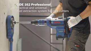 Tolmueemaldussüsteem puurimisel Bosch GDE 162
