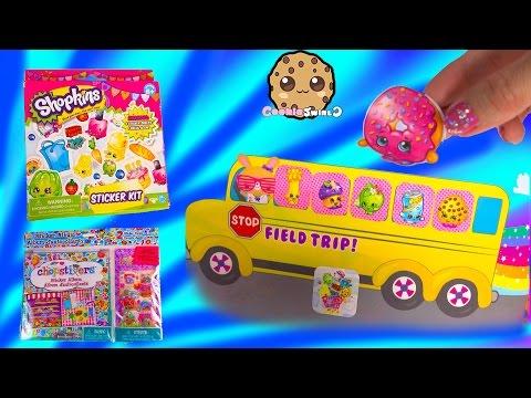 Shopkins Sticker Kit with Small Mart Scene, Chopstixers Album, Opening Review Video Cookieswirlc - UCelMeixAOTs2OQAAi9wU8-g