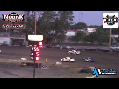 Nodak Speedway IMCA Sport Compact A-Main (Motor Magic Night #3) (9/5/21) - dirt track racing video image