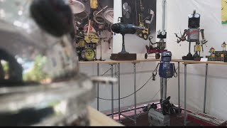 Arts Fest Local man uses antiques to make Robots