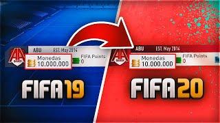 CÓMO PASAR TUS MONEDAS DE FIFA 19 A FIFA 20 ULTIMATE TEAM !!