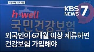 """""""6개월 이상 체류 외국인 건강보험 의무가입해야"""" / KBS뉴스(News)"""