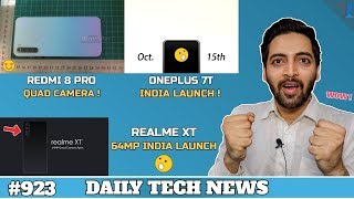 Realme XT 64MP India Launch,Redmi 8 Pro Quad Camera,Oneplus 7T India,Mi Band 5,Chandrayaan 2 -#923