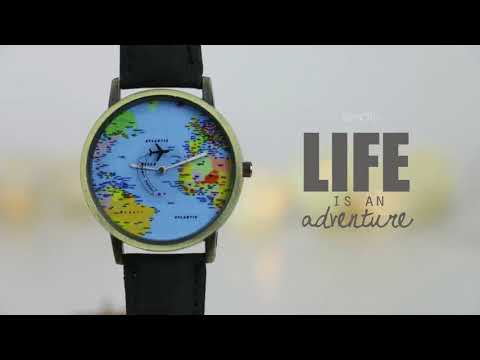 Airplane World Map Watch
