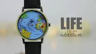 Airplane World Map Watch