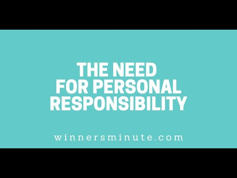 The Need for Personal Responsibility // The Winner's Minute With Mac Hammond