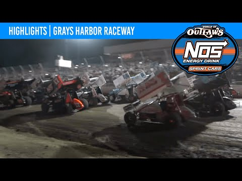 World of Outlaws NOS Energy Drink Sprint Cars Grays Harbor Raceway, September 6, 2021 | HIGHLIGHTS - dirt track racing video image