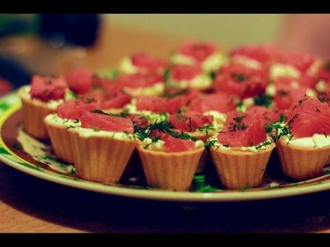 Новогодняя закуска. Тарталетки с красной рыбой. - rukremov