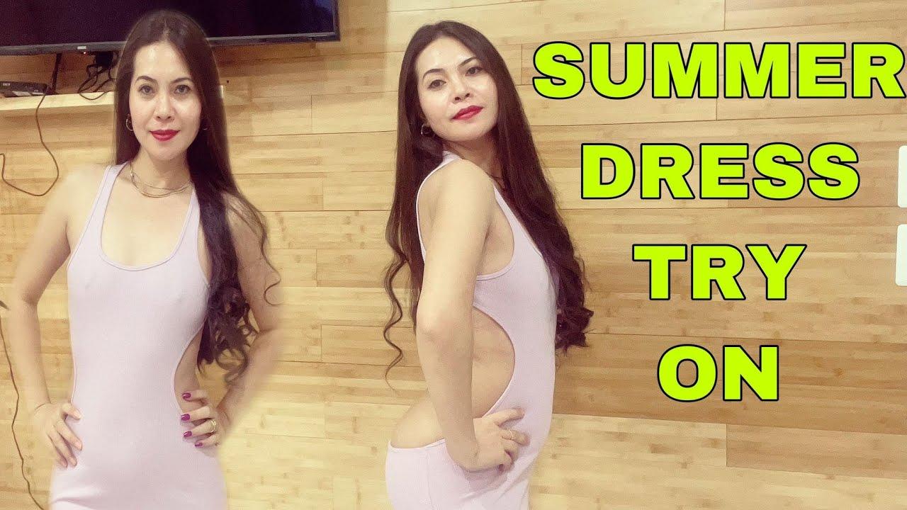 SHEIN SUMMER DRESS TRY ON / HIGH HEELS / AMAZON WISHLIST  ANKLET