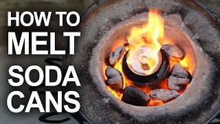 喝完的鋁罐還有大用途,看看他用高溫溶化後,制成的這個成品...太棒了! -