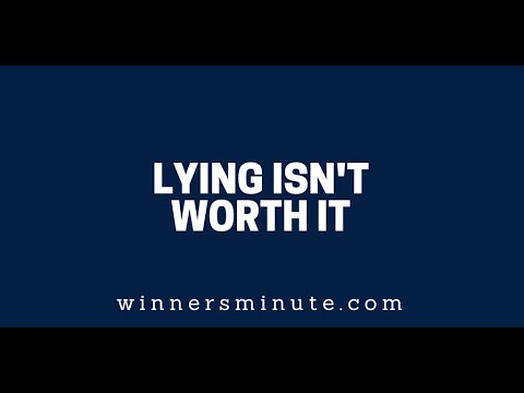 Lying Isnt Worth It  The Winner's Minute With Mac Hammond