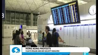 Hong Kong protests - Flights resume amid new security measures