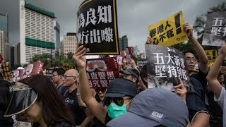 HK protest march stays peaceful