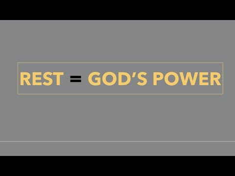 REST  GOD'S POWER