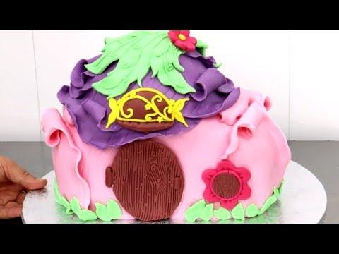 5b3177472527 TINKERBELL House CAKE - How To by CakesStepbyStep