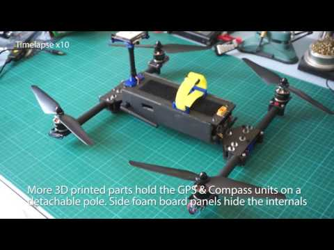 Quadcopter folding frame design and test - build tutorial - Part1 - - UCoNRrId8BeviUPu8udmFhEg
