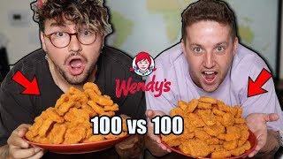Eating Wendys Entire Spicy Chicken Nuggets W/ Jc Caylen