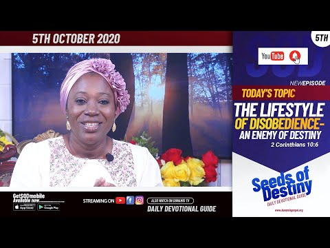 Dr Becky Paul-Enenche - SEEDS OF DESTINY - MONDAY OCTOBER 5, 2020