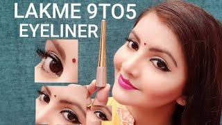 Lakme 9 to 5 black impact eyeliner demo   AFFORDABLE and best eyeliner for everyday   RARA