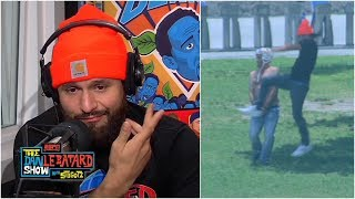 Jorge Masvidal calls out Conor McGregor, throws flying knee at Stugotz | The Dan Le Batard Show