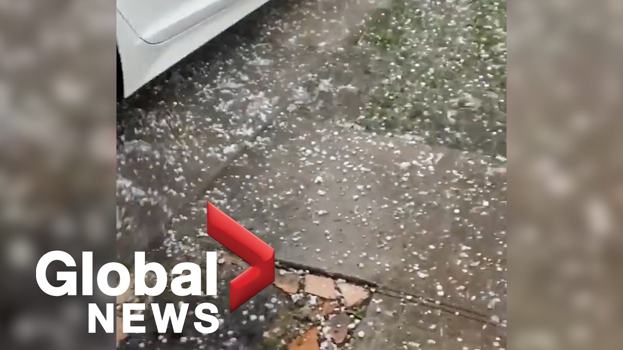 Hail pelts parts of Texas, Louisiana during stormy weather