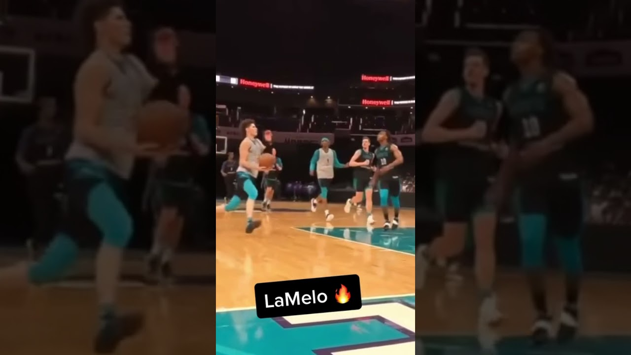 LaMelo threw the oop to himself 😳🔥   #shorts