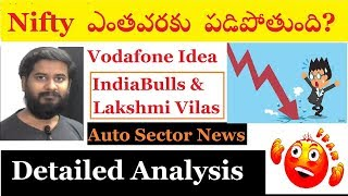 Nifty 50 ఎంతవరకు పడిపోతుంది? vodafone idea, indiabulls & axis bank analysis by trading marathon