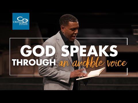 God Speaks Through An Audible Voice