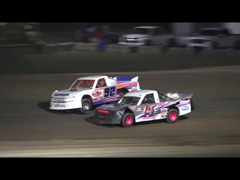Pro Truck A-Feature at Crystal Motor Speedway, Michigan on 08-07-2021!! - dirt track racing video image