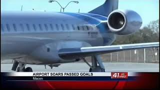 Middle Georgia Regional Airport reaches goal of 10,000 flights