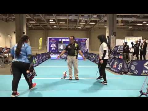 Ravina Goyal v Fatimah Almashhadani – compound women's bronze | Macau Open 2018