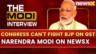 PM Narendra Modi Exclusive interview on NewsX — Congress can't fight BJP on GST, demonetisation