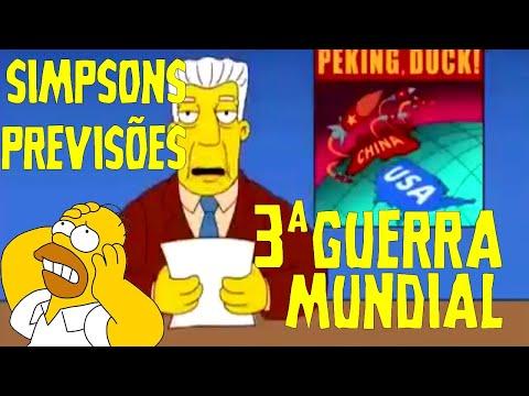 Previsões dos Simpsons sobre MELHORES MEMES DA 3ª GUERRA MUNDIAL!!