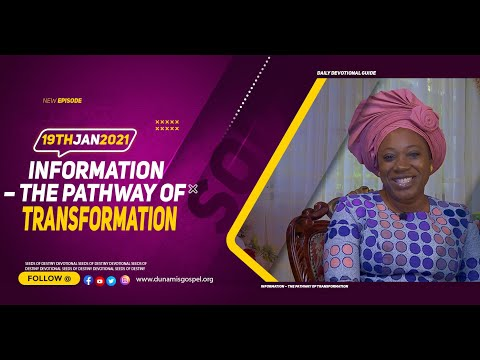 Dr Becky Paul-Enenche - SEEDS OF DESTINY  TUESDAY JANUARY 19, 2021