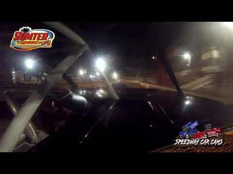 #444 Richard Burns - Mod 4 - 9-18-21 Sumter Speedway - In-Car Camera - dirt track racing video image