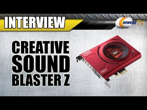 Newegg TV: Creative Sound Blaster Z-Series Audio Cards Interview - UCJ1rSlahM7TYWGxEscL0g7Q