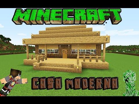 Youtube minecraft casa moderna de madera facil for Casa moderna minecraft 0 10 4